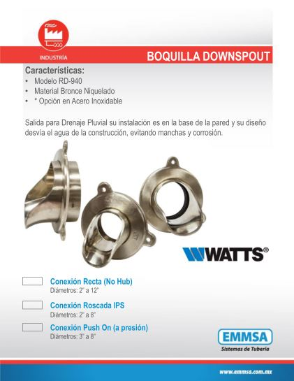 Boquilla DOWNSPOUT